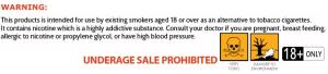 nicotine warning